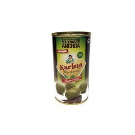 ACEITUNA RELLENA ANCHOA GOURMET KARINA  350 g.