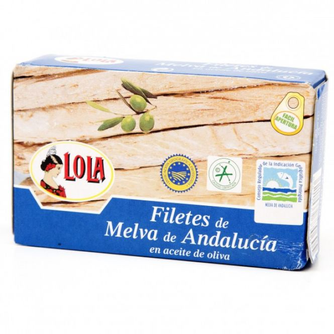 MELVA D.O ANDALUCIA  EN AC. OLIVA 125 gr. LOLA