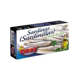 SARDINILLAS EN ACEITE DE OLIVA 90G. 7/10 P. ORBE
