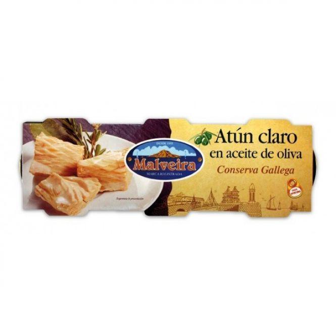 ATUN CLARO EN AC. OLIVA PACK3   MALVEIRA