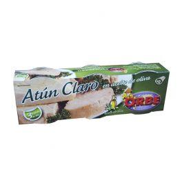 ATUN CLARO EN AC. OLIVA PACK3 LATAS ORBE
