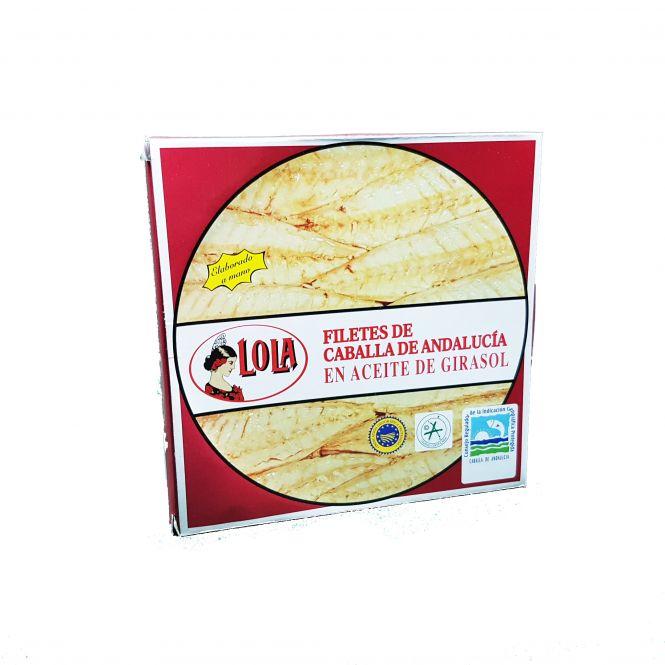 CABALLA D.O. ANDALUCÍA EN ACEITE DE GIRASOL 550 gr. LOLA
